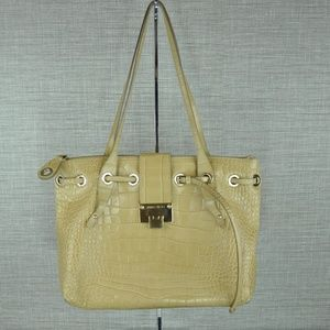 Jimmy Choo Light Tan Alligator Skin Shoulder Bag